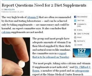 New York Times on Vitamin D