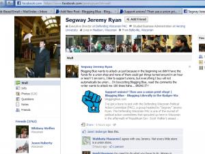 Jeremy Ryan's Facebook page