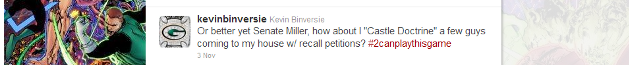 Kevin Binversie advocating murder? You decide.