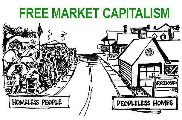 "free market and capitalism Free market"" is a summary term for an array of exchanges that take place in  society each exchange is undertaken as a voluntary agreement between two."