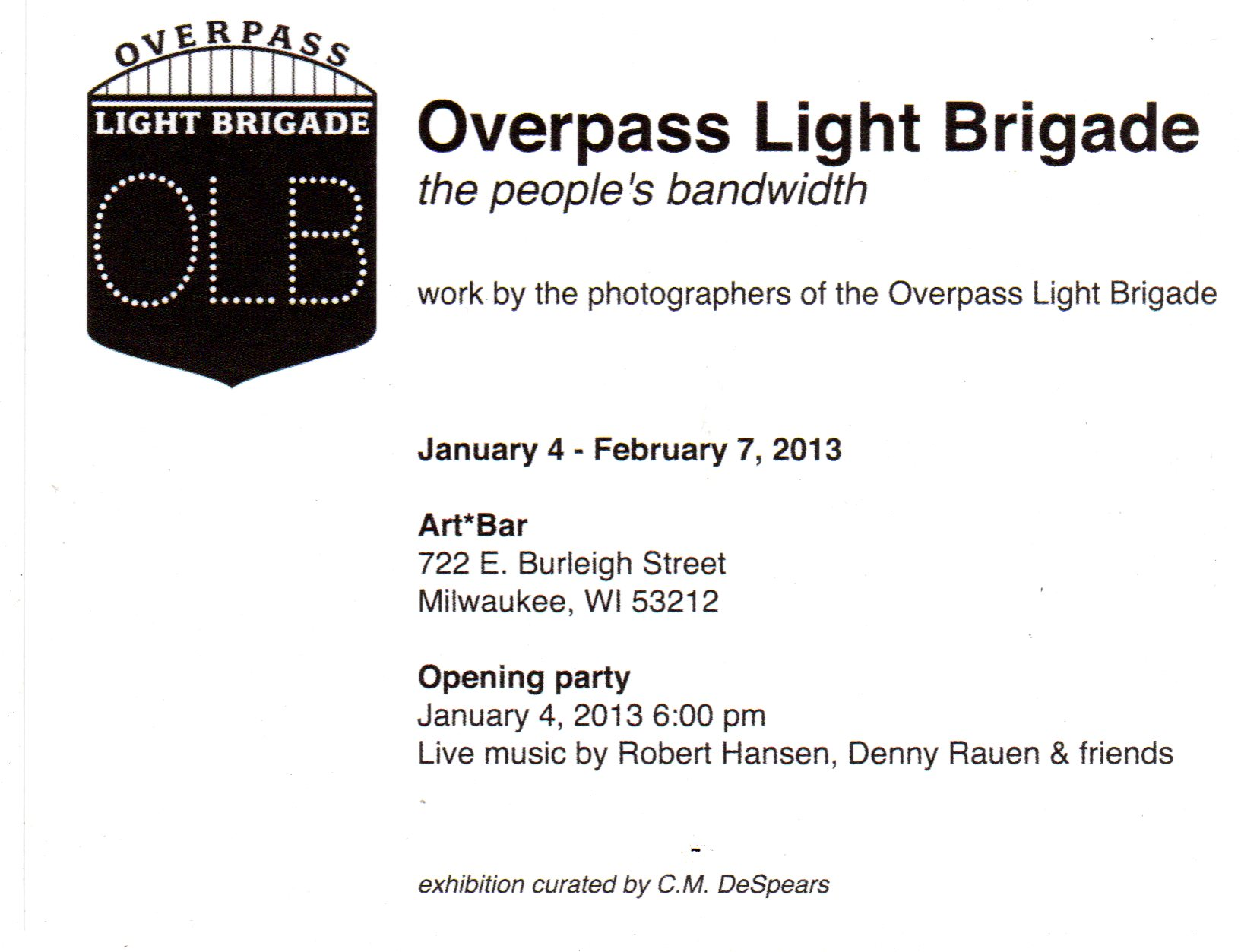 Overpass Light Brigade photo exhibit kicks off January 4th in Milwaukee
