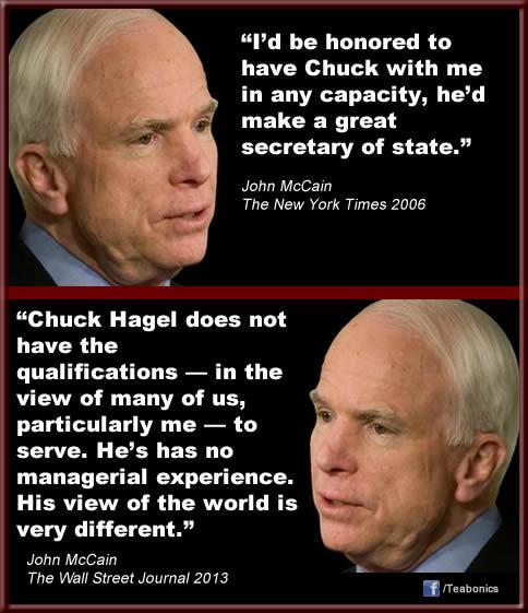 Two faces of John McCain