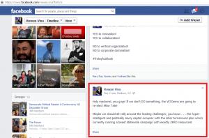 Rowan Viva Facebook screencap 1