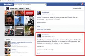 Rowan Viva Facebook screencap 2