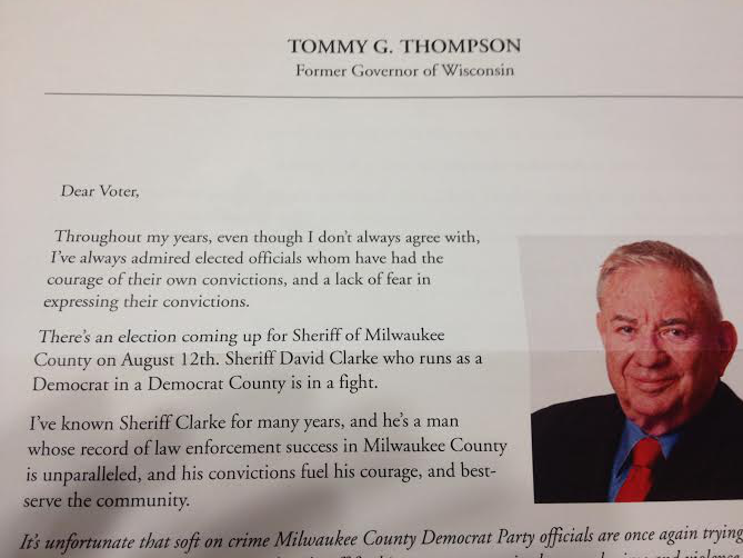 Tommy Thompson encourages Republicans in Milwaukee County to vote as Democrats