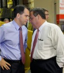 Scott Walker & Chris Christie up close