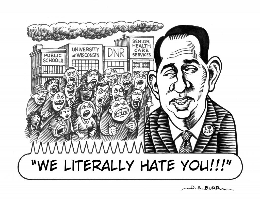 Walker 2015 budget outrage