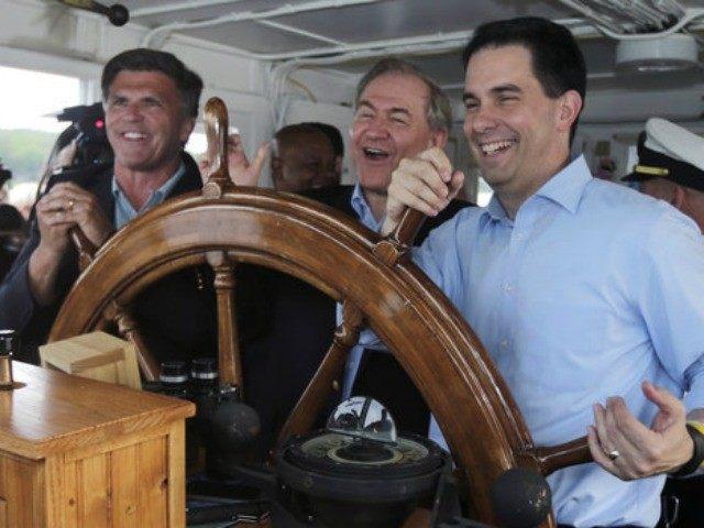 Scott Walker on a boat