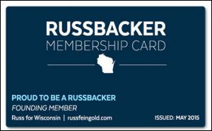 """Russbacker"" membership card"