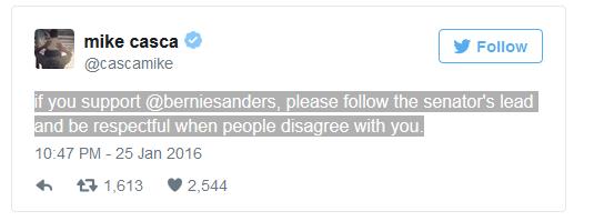 Bernie Crap Response