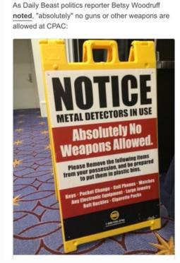 Gun-free CPAC